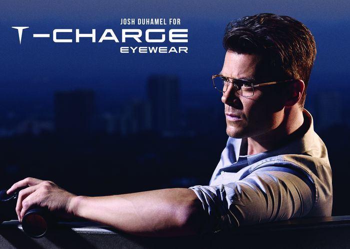 Josh Duhamel for T-charge eyewear