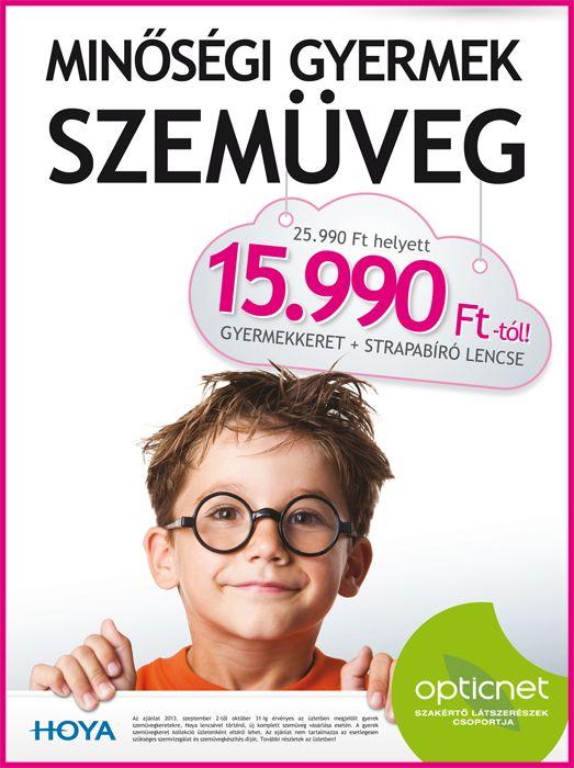 Minőségi gyermekszemüvegek iskolakezdési akcióban
