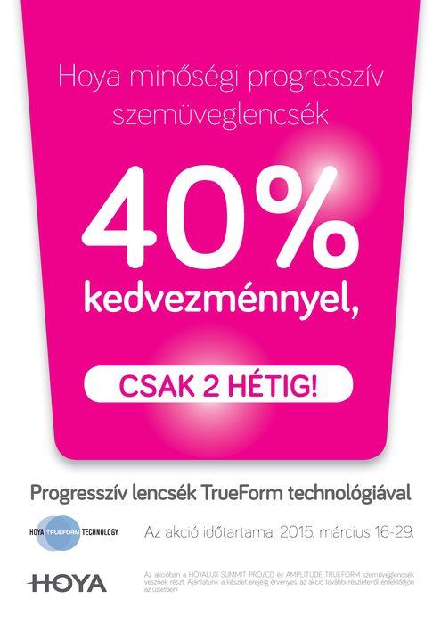 TrueForm progresszív lencse akció 2 hétig