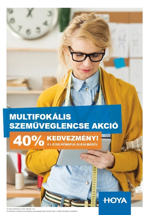 Látás Hónapja alkalmából multifokális lencsék 40% kedvezménnyel