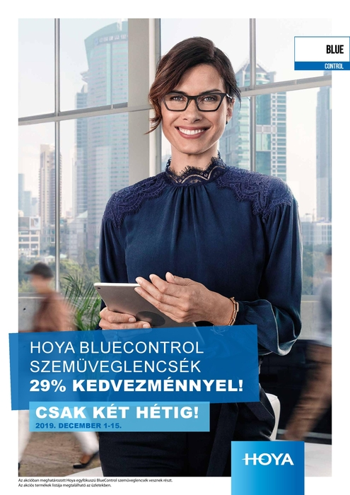 BlueControl szemüveglencsék 29% kedvezménnyel
