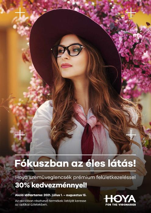 Hoya egyfókuszú szemüveglencsék 30% kedvezménnyel