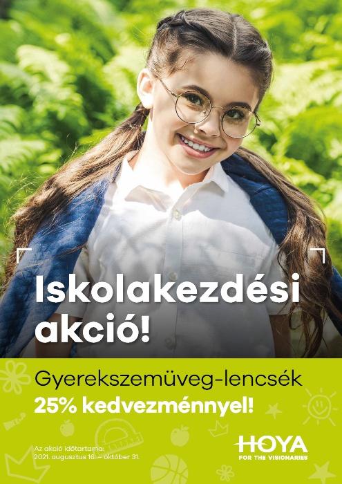 Hoya Kids szemüveglencsék 25% kedvezménnyel